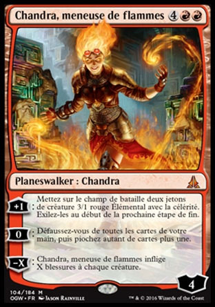 Chandra meneuse de flammes
