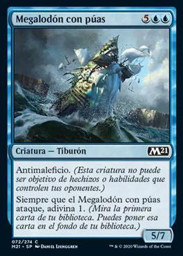 Megalodon con puas