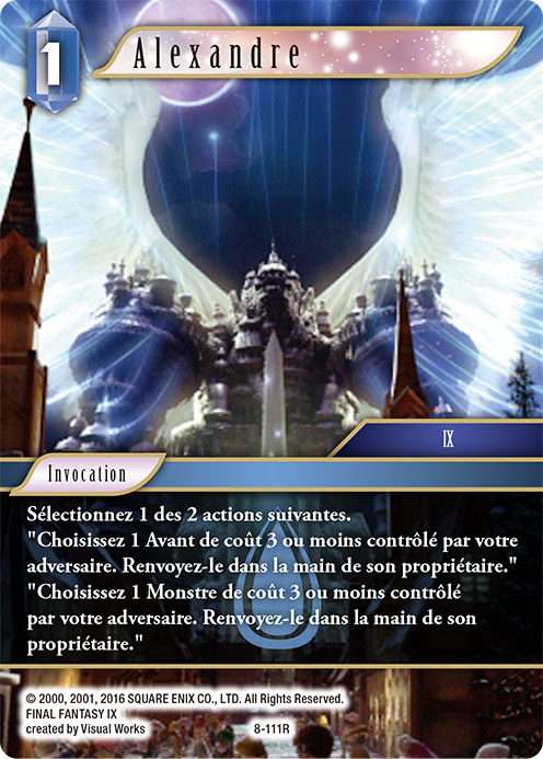 Carte invocation Alexandre