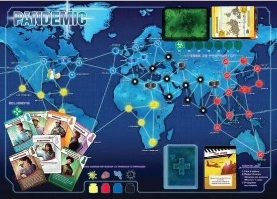 Plateau de jeu Pandemic
