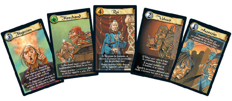 Cartes personnages Citadelles