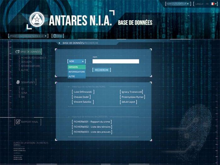 Base de données Antares Détective