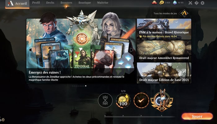 Style de jeu Magic Arena